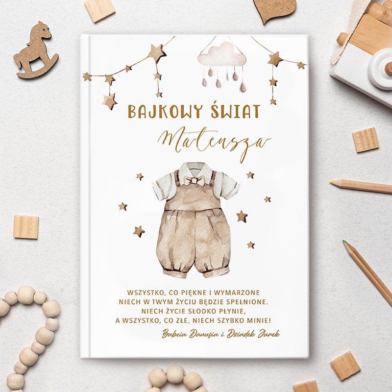 Personalizowana książka dla dziecka w stylu boho. Idealny prezent dla chłopca na narodziny, chrzest, urodziny.