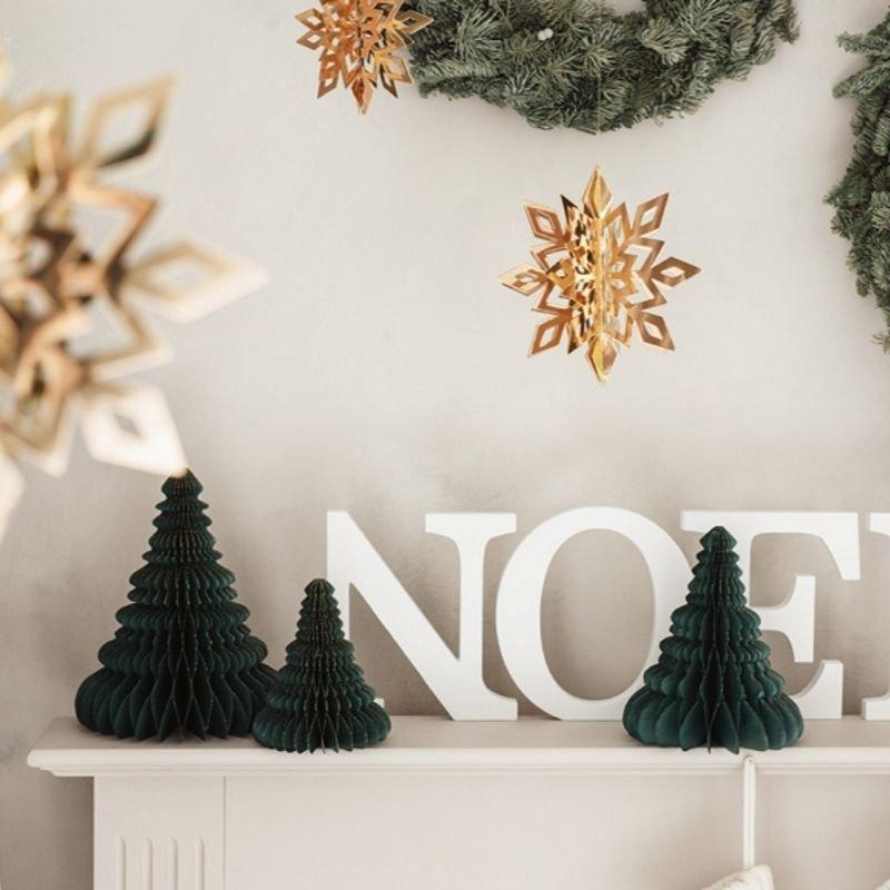 Zdjęcie w galerii - BOMBKA papierowa dekoracja świąteczna Choinka