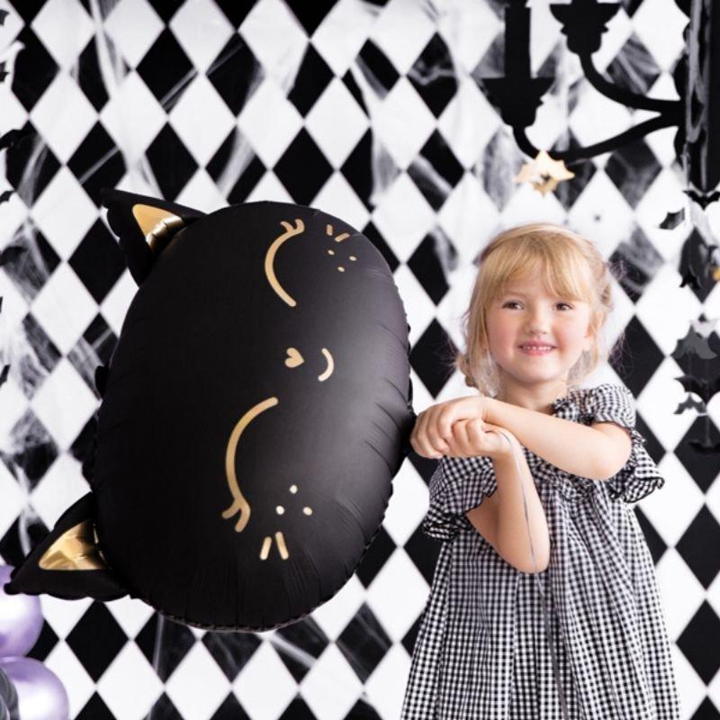 Zdjęcie w galerii - BALON foliowy dekoracja na dziecięce przyjęcie Czarny Kotek