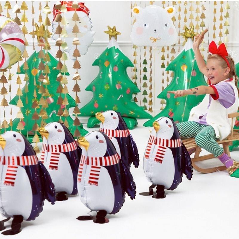 Zdjęcie w galerii - BALON foliowy ozdoba świąteczna Pingwin