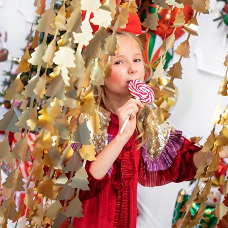 Zdjęcie w galerii - GIRLANDA na tło złota dekoracja świąteczna Choinki