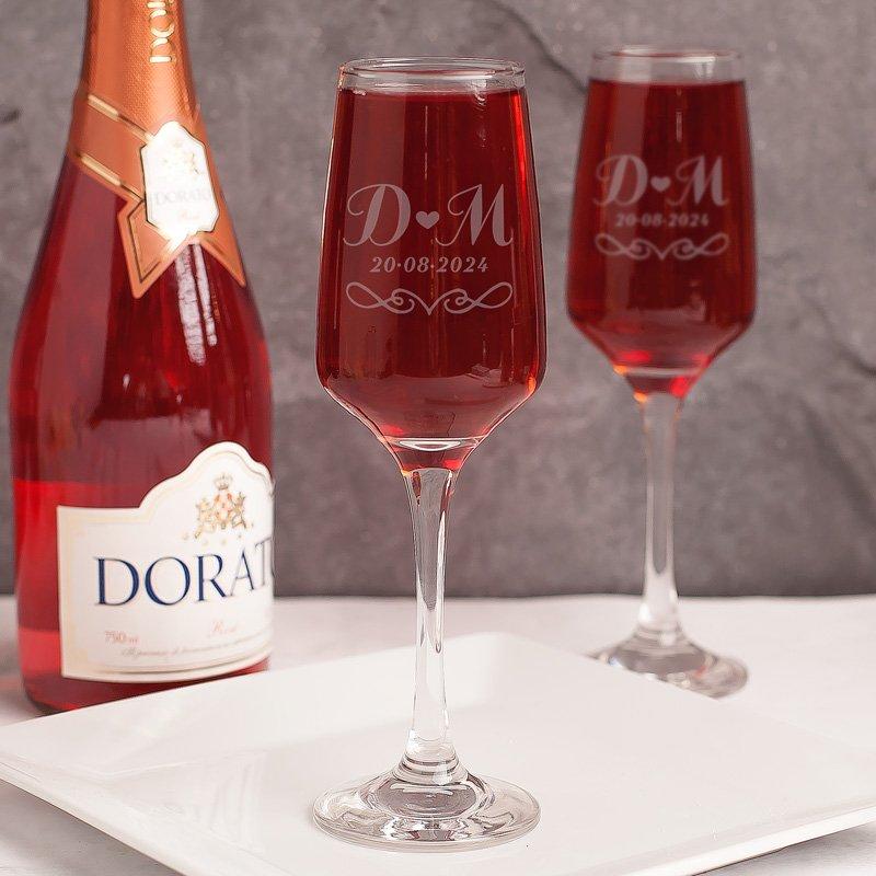 Zestaw kieliszki do szampana prezent ślubny lub na rocznicę z grawerem