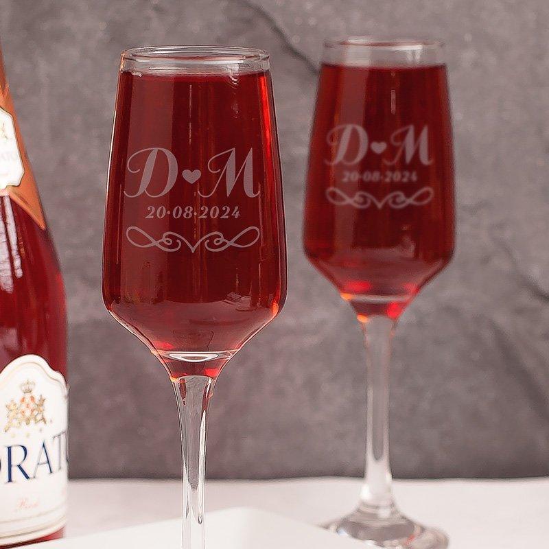 Zdjęcie w galerii - KOMPLET kieliszków do szampana prezent na Ślub/Rocznicę Ślubu