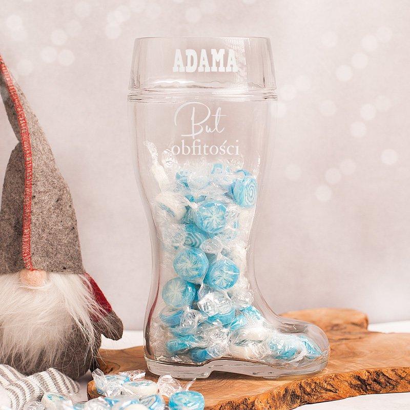 Kufel świąteczny but z cukierkami to idealny prezent dla niego. Pomysłowy gadżet dla mężczyzny.