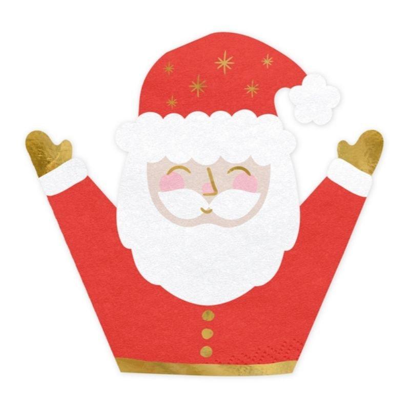Zdjęcie w galerii - SERWETKI świąteczne papierowe Mikołaj 20szt