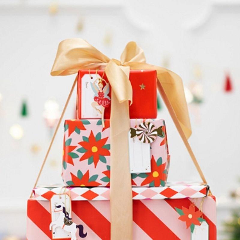 Zdjęcie w galerii - PAPIER do pakowania prezentów świątecznych Gwiazda Betlejemska