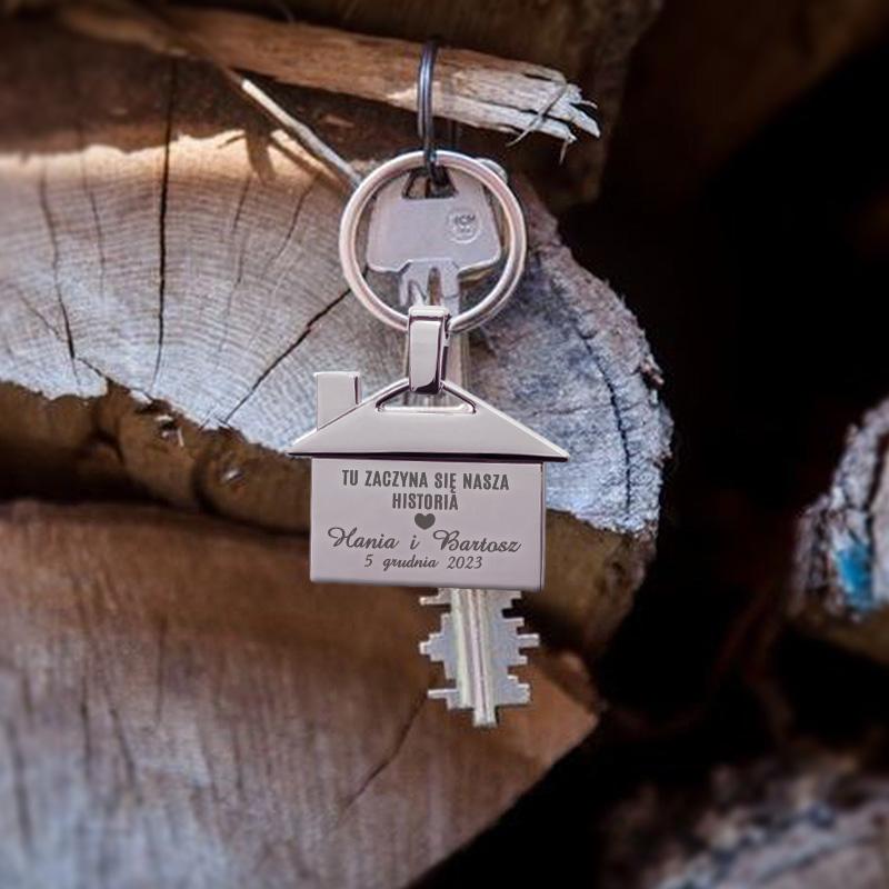 Zdjęcie w galerii - BRELOK do kluczy DOMEK na nowe mieszkanie PREZENT