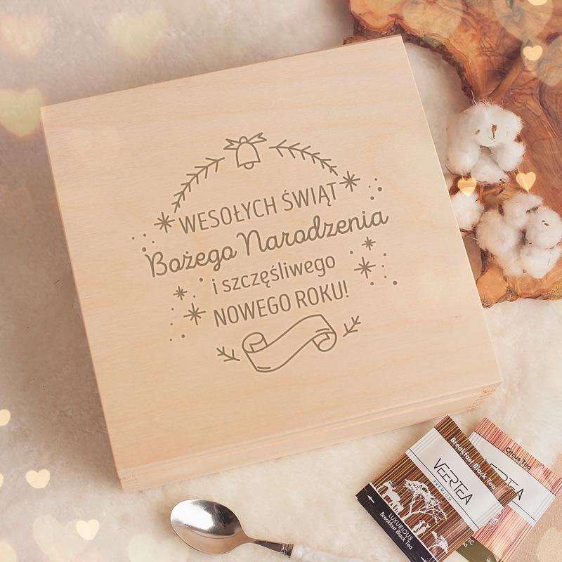 Zdjęcie w galerii - ZESTAW herbat prezent świąteczny w skrzyni Magia Świąt